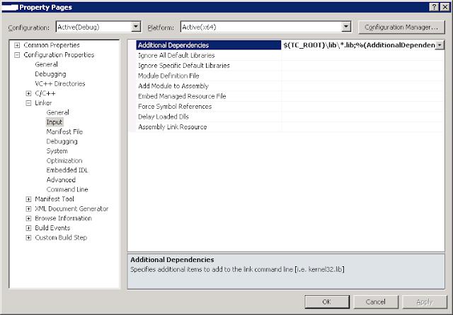 Microsoft Visual Studio Project configuration for Teamcenter